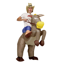 Adult Inflatable Cowboy Costume Animal Pet Horse Costume