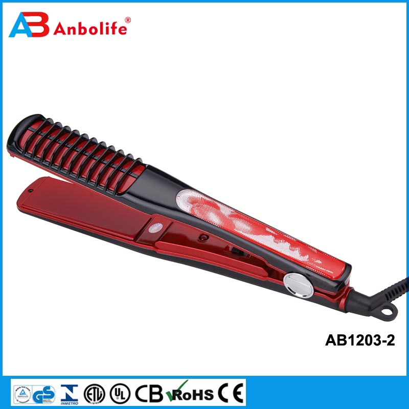 Anbo 2017 Professional wholesale popular loof Promotion factory mini hair straighter with different type and different color