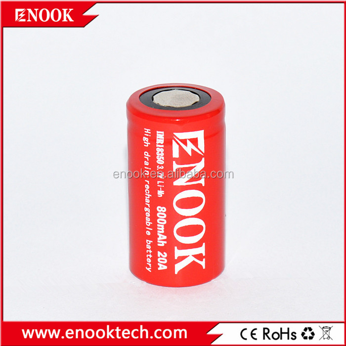 High drain!!!100% original Well manufacture enook 18350 800mAh 3.7V high drain battery for e-cig,e-bike in big stock
