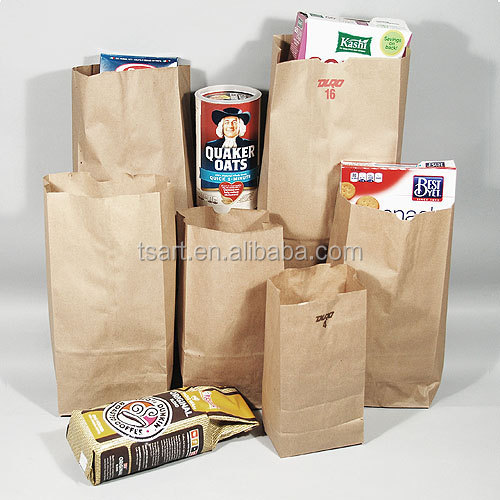 30lb Square Bottom Kraft Paper Grocery Bag