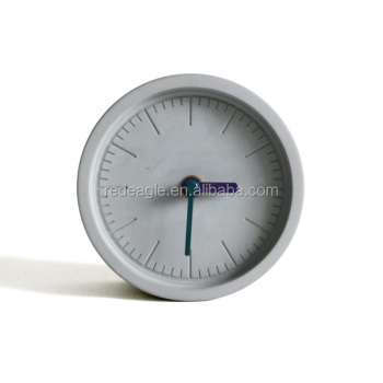 Mini Plain concrete table decoration bare concrete desktop clock