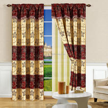 100% polyester curtain drapes and curtains luxury jacquard curtain