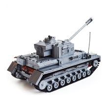 14882010-1193pcs Building Blocks German military tank Bricks Boy's Christmas Gift playmobil educational toys