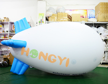 Giant pvc inflatable airship helium balloon Commercial promotion advertising inflatable sky blimp display