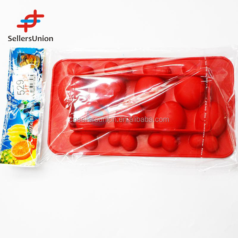 2017 hottest sale No.1 Yiwu export commission agent red color Fish Shaped Ice Cube Tray/Ice Mould