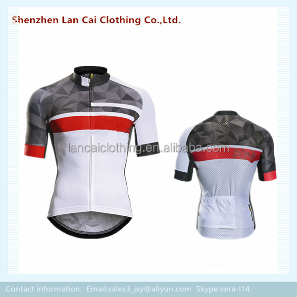 short sleeves cycling jersey sublimation sports bike wear from china