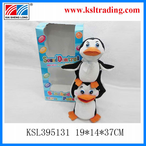 Battery Operated plush penguin toys for kids