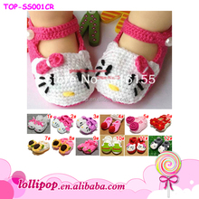 2017 Wholesale newborn baby walk shoes rabbit hand made crochet baby shoes