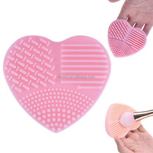 Heart shape make up device Silicone cute clean makeup brush cleaner