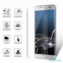 2017 newest premium 3d curved full cover 9H tempered glass Invisible Shield For S7 edge