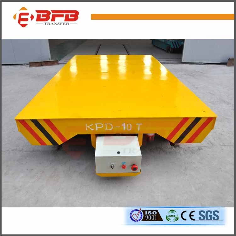 Rail powered KPD series electric transport vehicle slab hauler