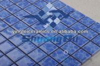 wholesale price 100% porcelain pool ceramic mosaic tile for swimming pools,spas,23x23mm(1x1 inch),48x48mm(2x2 inch)