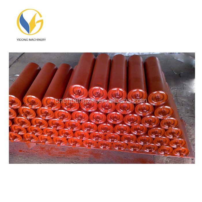 Rubber ring type conveyor roller spare parts impact idler/impact roller