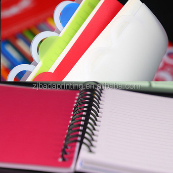 custom wholesaling Coil spiral notebook in alibaba China