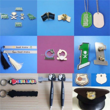 National day gifts Saudi Arabia magnet pin/dog tag/book clip/keyring/trophy/magnet pen
