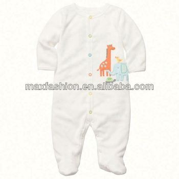 Terry Snap-Up Sleep & Play W&F,baby clothing,Baby clothes