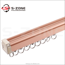 double ceiling mount curtain track for heavy curtains