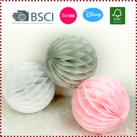 "Wholesale 3 pcs Mix Color 20 cm/8"" 28g Tissue Paper Honeycomb Balls Kit Decorations for Wedding Showers Party"