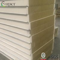 Nice price rockwool sandwich panel fireproof roof lightweight heat resistant roof paneles sandwich / cheap rockwool price / roof