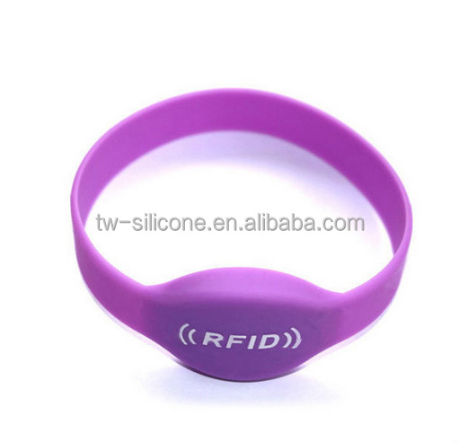 Blue and red kids silicone RF ID bracelet for safty