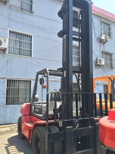 6m Lengthened fork 2 stages Japanese Toyota 10 Ton Used Forklift 7FD100 Low Price for Sale