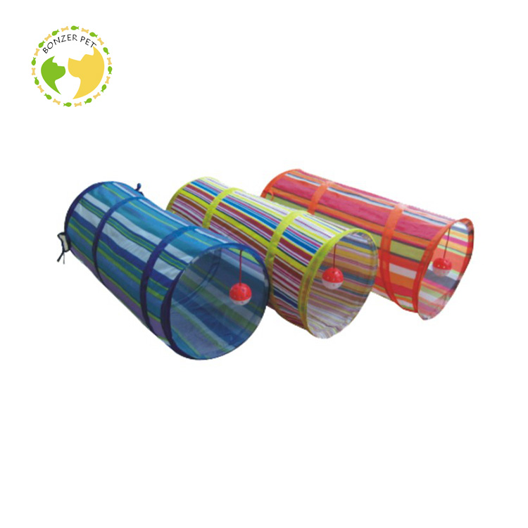 I-0014 High Quality Cat Toy Exercise Tunnel With Crinkle