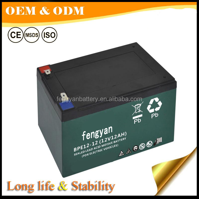 golf car battery 6-dzm-12 manufacturers 12v 12ah electric motor battery