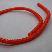 Professional customized China supplier flexible plastic corrugated tubing,plastic spiral tube,pvc plastic hose pipe
