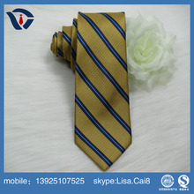 Hot sale woven jaquard Colored Striped Mans Silk Korean Necktie