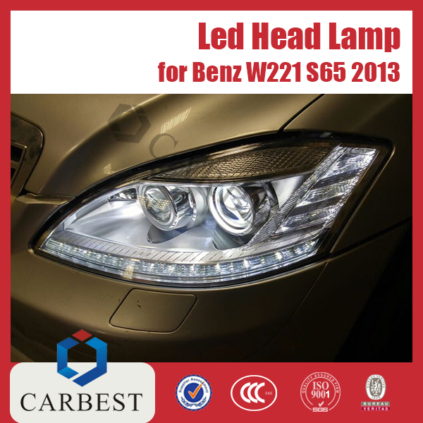 High Quality AMG Style S65 Led Car Headlight for Mercedes Benz W221 2013