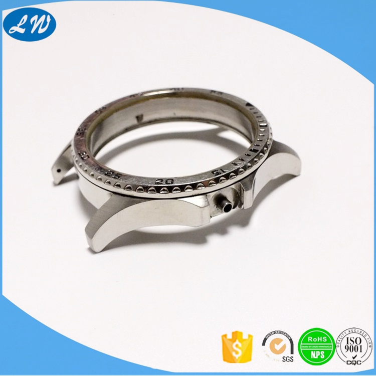 High standard stainless steel 316L custom cnc machining watch dial parts cases for automatic watch