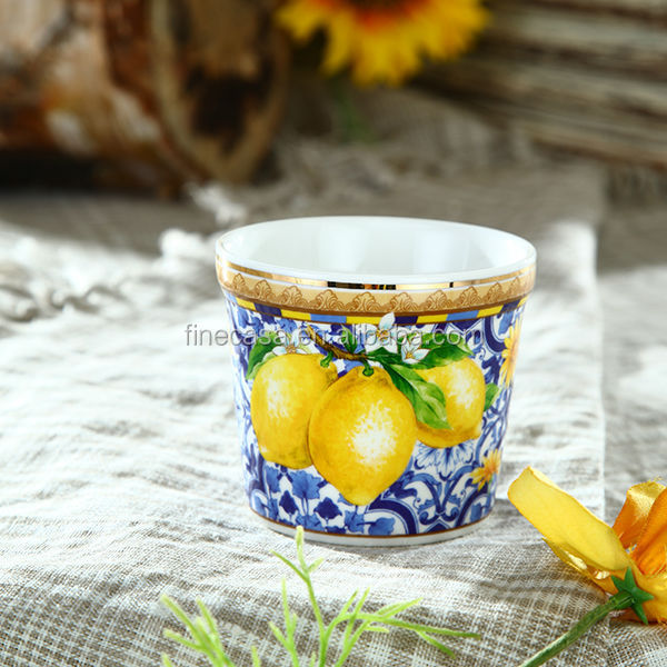 Elegant New Bone China Small decorative ceramic flower pots