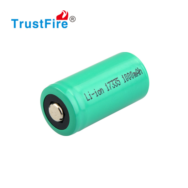 Hot selling wholesale 17335 rechargeable battery 3.0V 1100MAH li-ion battery Used for TrustFire Z1, mini flashlight/torch!!!