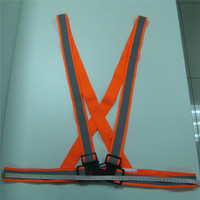 Apparel workwear low price pvc reflective adjustable buckles safety belt