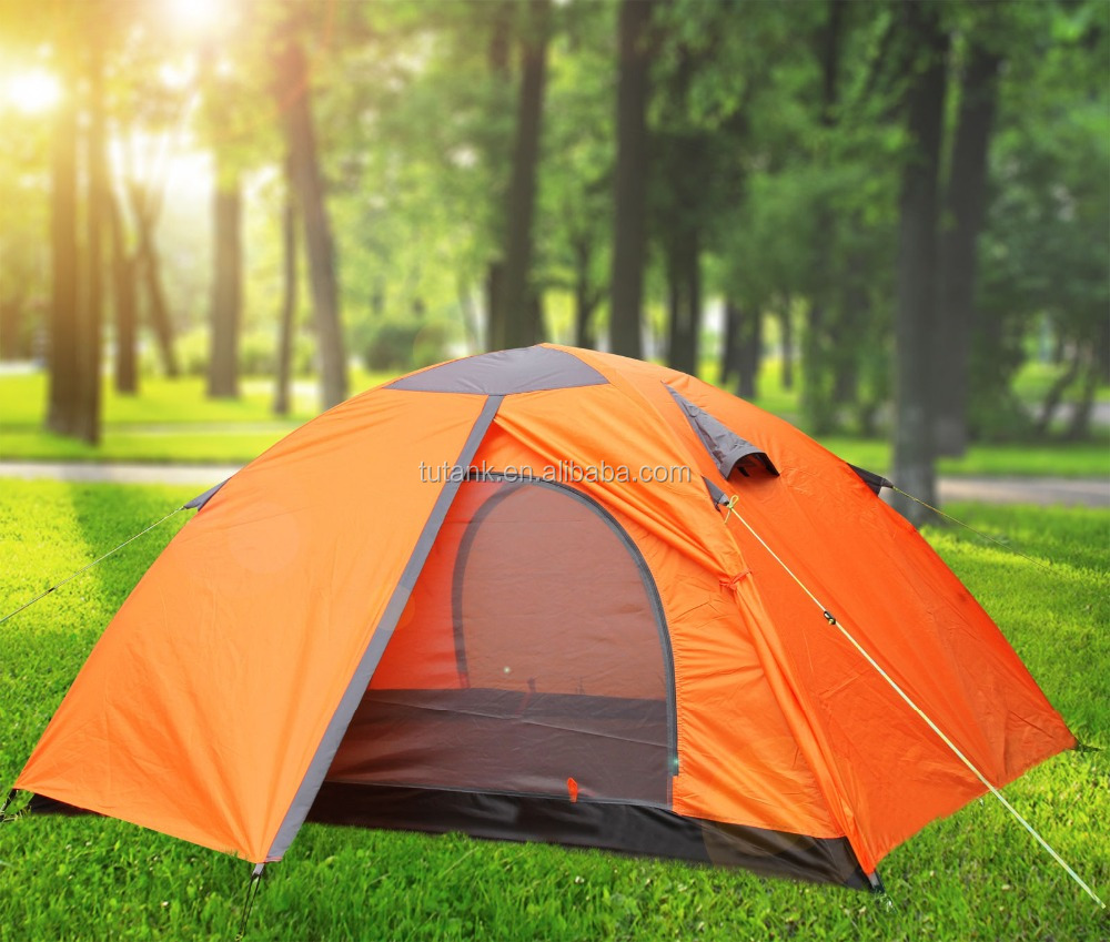 Double Layer Camping Tent Waterproof Hiking Outdoor Hunting 2 Person 3 Season