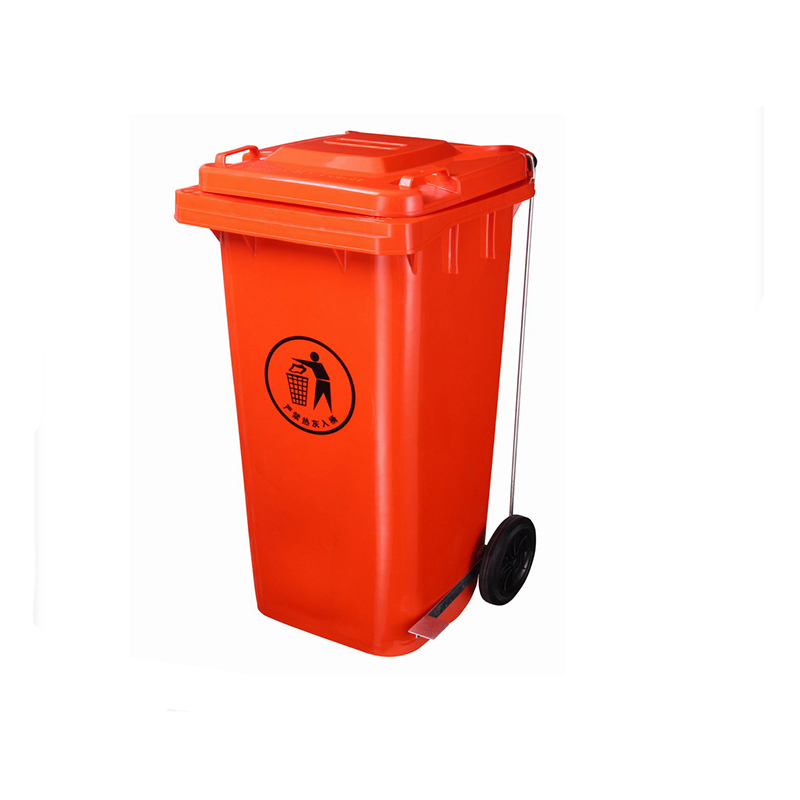 Plastic Waste Bin with Wheels 240 liter Dustbin wholesale