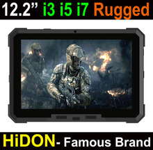 2017 All-in-one Intel Core i7 rugged tablet pc, 12 inch window10 3G/4G ethernet port embedded computer with intel core i7 6500U