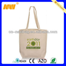 Promotional standard size cotton tote bag(NV-CT056)