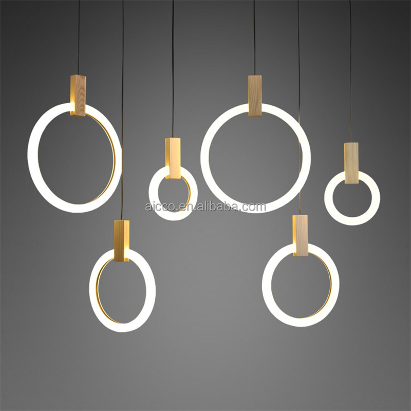 Aicco Modern Indoor Round O Shape Hanging Lamp, Designer Decorative Pendant LED Lighting