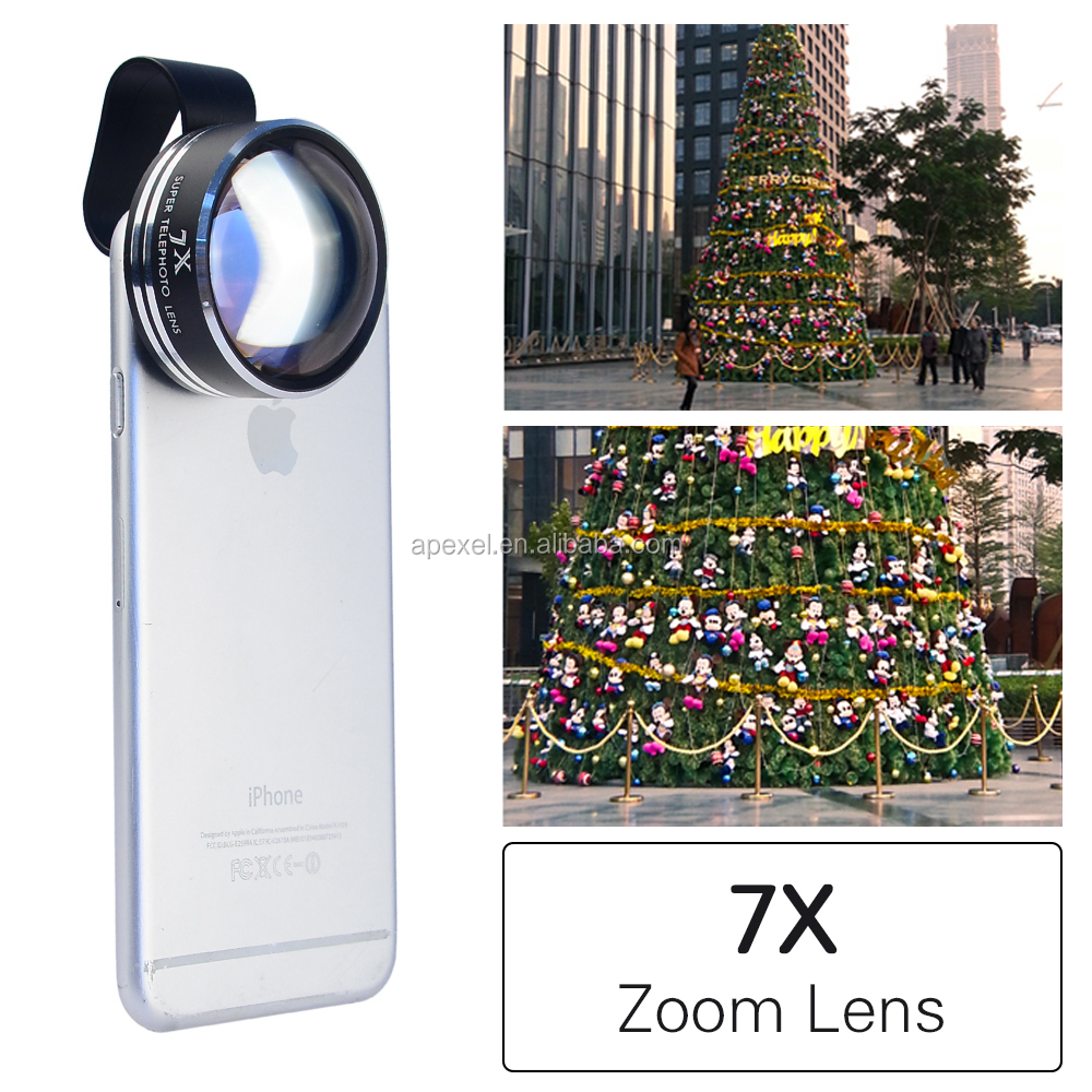 Optical Zoom 7X Telephoto Tele Photo Lens for Iphone camera