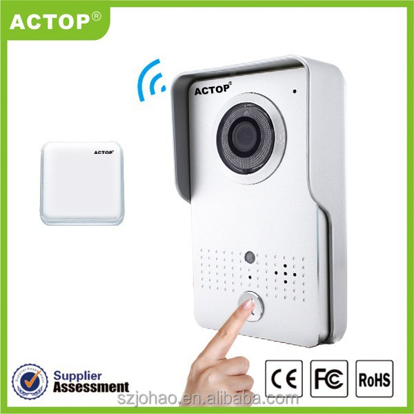 2015 new design wireless wifi doorbell camera wifi-602 db-601-rf supports two way intercom and remotely unlock door