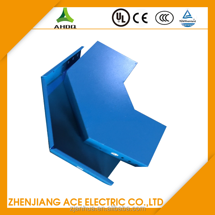 Blue Color Horizontal L Bend Powder Coated Cable Trunking Weight