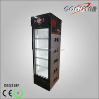 Single glass door vertical display seafood ice cream freezer showcase
