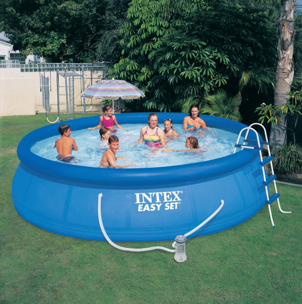 2015 outdoor plastic intex swimming pools for sale for Obi filtersand pool