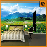 fire retardant building decoraton photo wallpaper mural