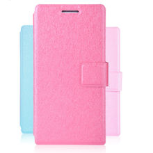 Flip leather slim case for huawei ascend p6