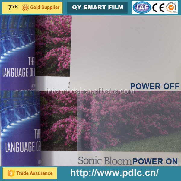 hot sale 2015, high transparence 82% electronic film, PDLC film