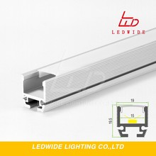 Popular surface Alu profile 19.5*19mm,Aluminum housing for led can use Suspension and Adjustable clip