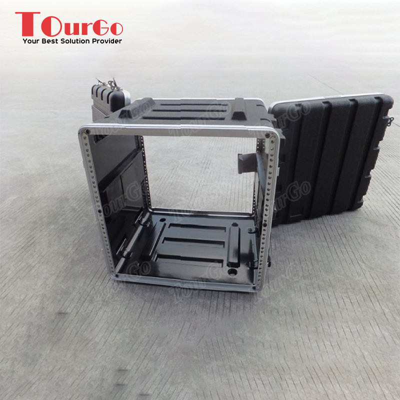 "TourGo 12U 19"" ABS Flight Rack Mount Equipment <strong>Case</strong> with Caster Board -17"" body depth"