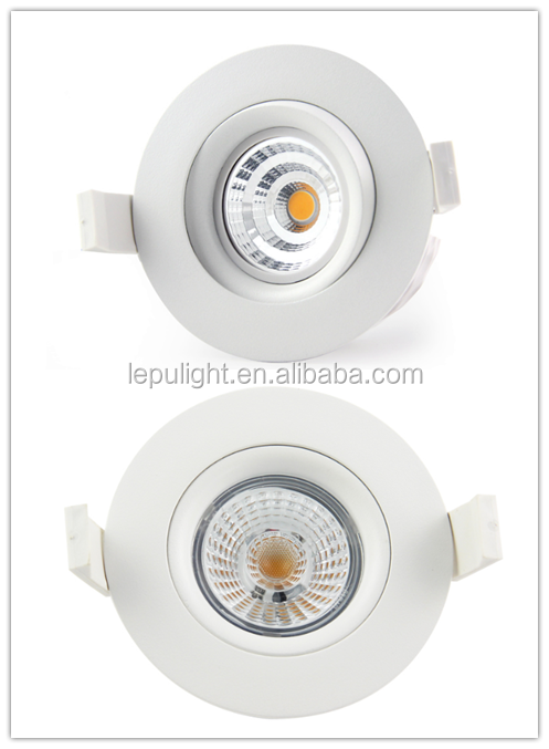 CCT adjustable super warm led cob downlight with fireproof 0-100% dimming design for Europe market